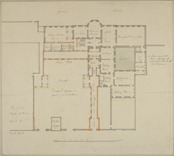 [Drawn plan of old Carlton House made for the Dowager Princess of Wales]